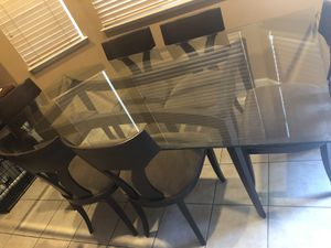 Dining glass table and 6 chairs for Sale in San Jose, CA