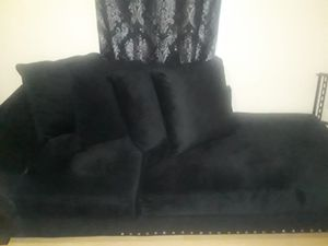 2 piece Black sectional for Sale in Pawtucket, RI