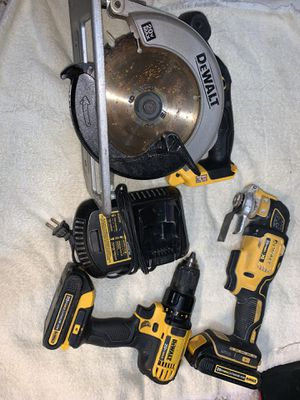 "Dewalt 20v tools 6 1/2"" circular saw multi tool and drill for Sale in Tacoma, WA"