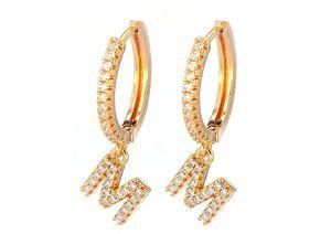 """Charming Hoop Earrings with """"M"""" For Ladies Single Row Rhinestones Earrings Ladies Accessories for Sale in Henderson, NV"""