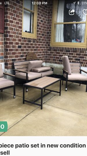 Four piece patio set in new condition Selling it at a bargain need larger furniture for Sale in Herndon, VA