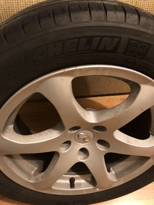 Infiniti g35 rims and Tires 225/50r17 $300 for Sale in Ranson, WV