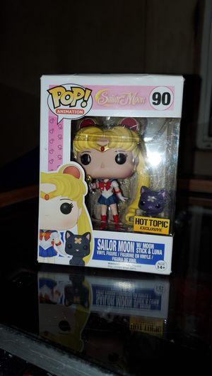 Funko Pop! Sailor Moon Sailor Moon w/ Moon Stick & Luna for Sale in Riverside, CA