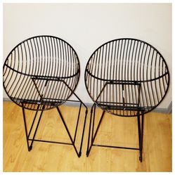 2 Modern Black Counter Stools - Almost New for Sale in Seattle, WA
