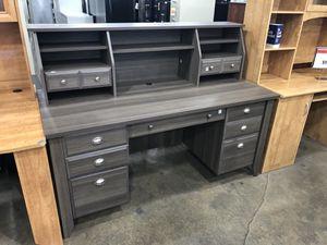 Desk w/ Overhead Organizer Hutch, Gray for Sale in Hialeah, FL