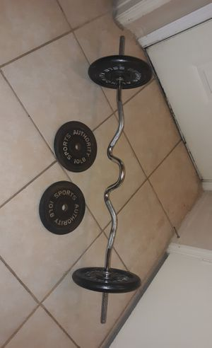 Sports Authority weights and Curl Bar for Sale in Kissimmee, FL