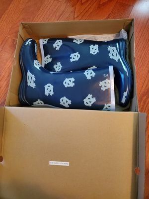 Brand New Campus Cruzers UNC Rain Boots Womens Size 6 North Carolina Chapel Hill for Sale in Raleigh, NC