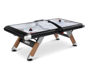ESPN Belham Collection 8 Ft. Air Powered Hockey Table with Overhead Electronic Scorer and Table Cover, Black for Sale in Austin, TX