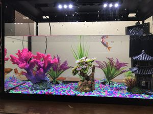 10 gallon fish tank full setup with filter, decors and stones - No fishes for Sale in Carteret, NJ