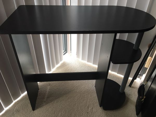 Small black desk