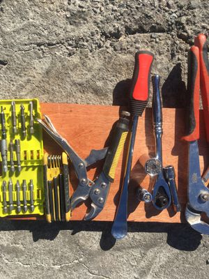 Tools bolt cutter, drill bits, sockets, channel locks, and more for Sale in Los Angeles, CA
