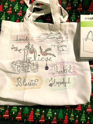 Christmas Reusable Polyester Tote - 13.5 In for Sale in Yonkers, NY
