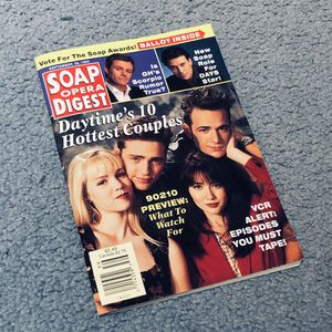 6 Vintage Soap Opera Digest 1990-1997 Days Of Our Lives Beverly Hills 90210 for Sale in Winter Springs, FL