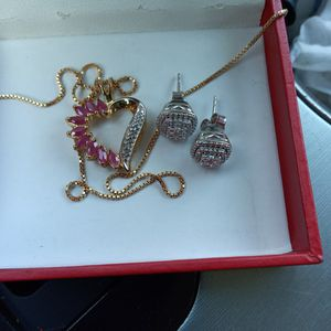 Heart And Diamond Earrings for Sale in Corona, CA
