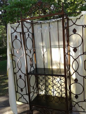 Wrought iron wine cabinet for Sale in Cumming, GA