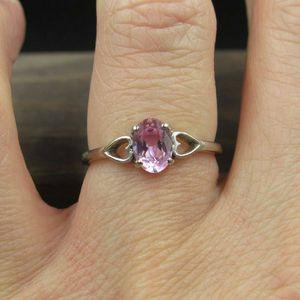 Size 7 10K Gold Hearts Pink Sapphire Band Ring Vintage Estate Wedding Engagement Anniversary Gift Idea Beautiful Elegant Unique Cute for Sale in Everett, WA