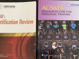 ACSM Resource For The Personal Trainer& Review for Sale in Pompano Beach,  FL