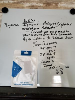 New iPhone headphone adapter audio cable for Sale in Aspers, PA