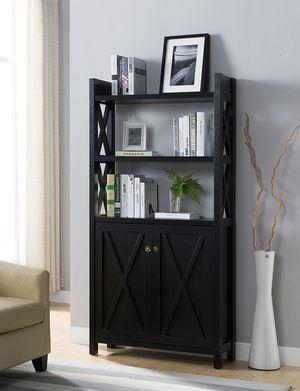 Michelle 2 Door Bookcase, Black Color for Sale in Garden Grove, CA
