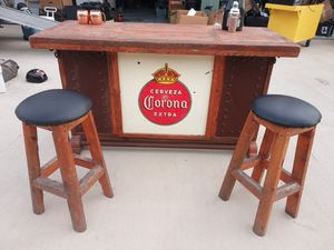 Rustic CervezaSolid Wood Bar , Bar Stools, Tables for Sale in Arcola, TX