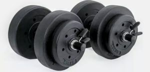 A Set Of Two 40 Lb. Vinyl Dumbbell Sets for Sale in Mount Vernon, NY