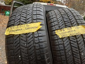 ((2 tires))235/55/18 allweathers like new for Sale in Meriden, CT