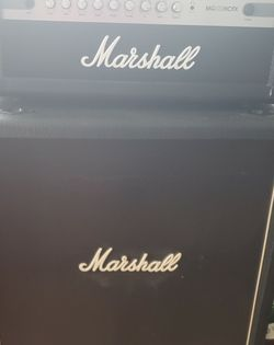 MG100 HCFX Marshall Amp Head And 4x12 Cab for Sale in Fort Lauderdale,  FL