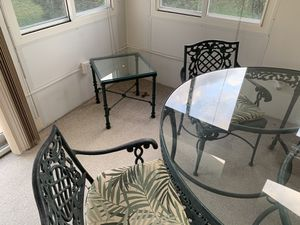 Patio/ sunroom tables chair for Sale in Berkeley Township, NJ