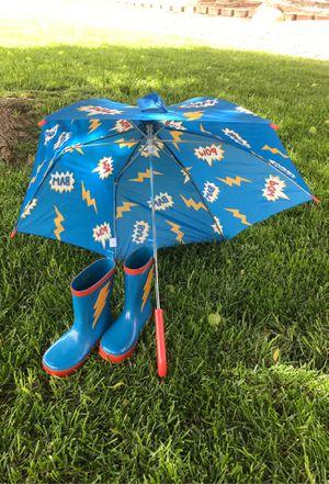 Rain boots and umbrella for Sale in EL PASO, TX