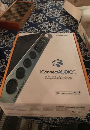 One Interface To Connect It All! iConnect Audio Multi-Host 4x6 Audio Interface with audio passThru for Mac PC and iOS for Sale in Brooklyn, NY