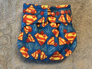Bumkins Superman All in One Cloth Diaper for Sale in Garden Grove, CA
