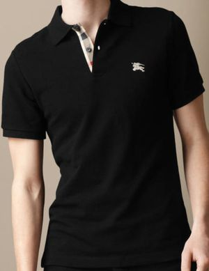 Black Burberry placket polo for Sale in Orlando, FL