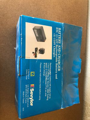 Sevylor 12 Volt Rechargeable Boat Battery With Charger for Sale in Albuquerque, NM
