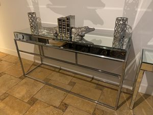 Z gallerie mirror console & side table & decorative bookends set for Sale in Arcadia, CA