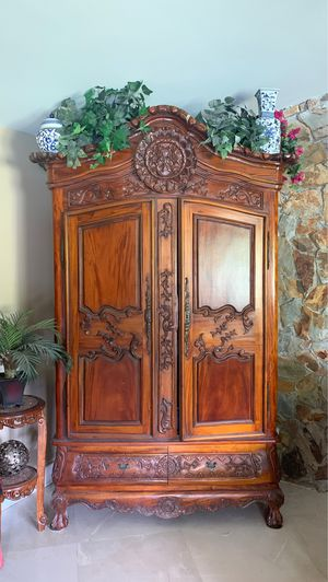 Antique solid wood mahogany cabinet with drawers for Sale in Fort Lauderdale, FL