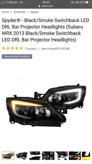 Black/Smoke Swtichback LED DRL Projector Headlight. for Sale in Philadelphia, PA