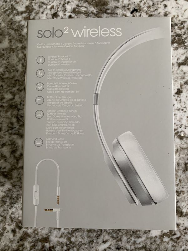 Beats solo 2 wireless limited edition silver