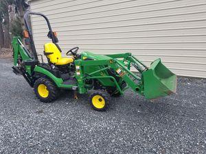 John Deere 1025r w/ loader & backhoe for Sale in Tacoma, WA