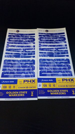 Warriors vs Suns Tickets for Sale in San Jose, CA