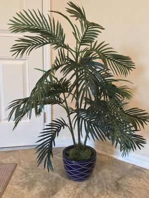 Faux fern plant with blue ceramic pot. $22.99 obo for Sale in Sarasota, FL