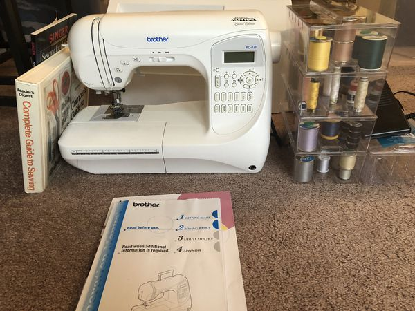 Sewing Machine with accessories (Brother PC420PRW)
