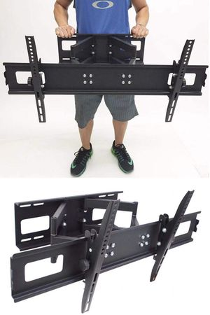New in box universal 40 to 85 inch swivel full motion tv television wall mount bracket 130 lbs capacity includes hardware screws FREE HDMI WIRE for Sale in Covina, CA