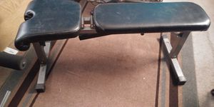 raisin set .2 benches 1 bar 2 dumbbells .160 in weight for Sale in Saint Charles, MO