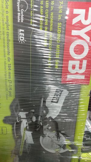 7 1/4th sliding miter saw Ryobi for Sale in Hampton, GA