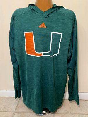 Adidas Miami Hurricanes Clima cool Hoodie. Very light. Size XXL. Great condition. for Sale in Tamarac, FL