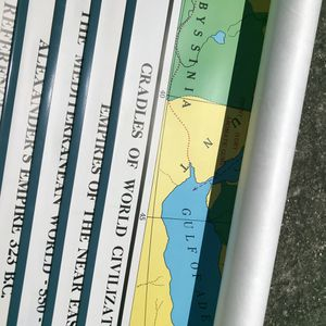 FREE maps of the world pull-down wall-mounted schoolroom maps for Sale in Oakland, CA