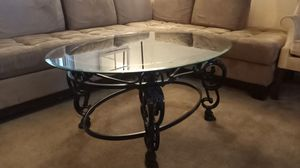 Coffee table glass and Metal for Sale in San Jose, CA