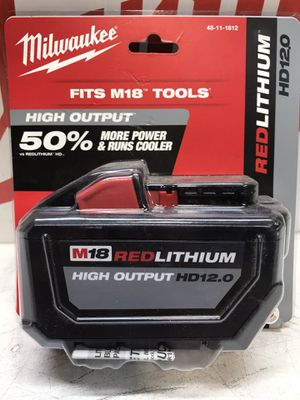 M18 18-Volt Lithium-Ion High Output 12.0Ah Battery Pack for Sale in Bakersfield, CA