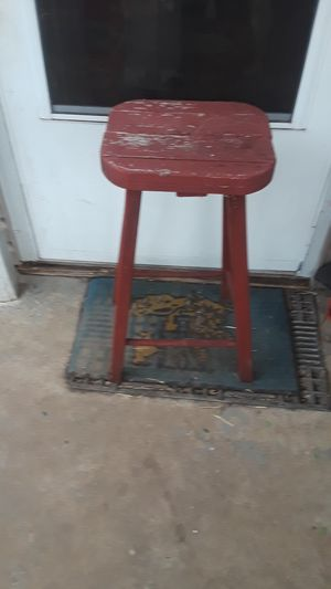 Red solid wooden bar stool for Sale in Lexington, KY