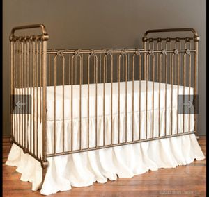 Bratt Decor Joy Crib + changing table + mattress (covers & sheets) for Sale in Brooklyn, NY